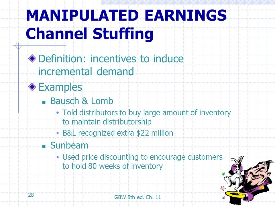 MANIPULATED EARNINGS Channel Stuffing