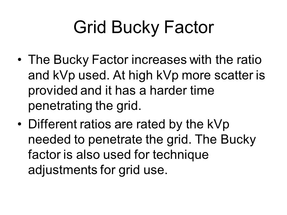 Grid Bucky Factor