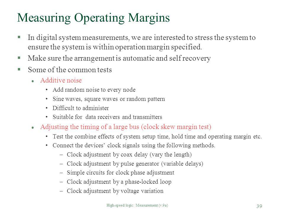 Measuring Operating Margins