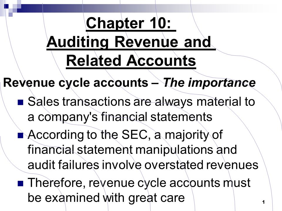 Revenue cycle accounts – The importance