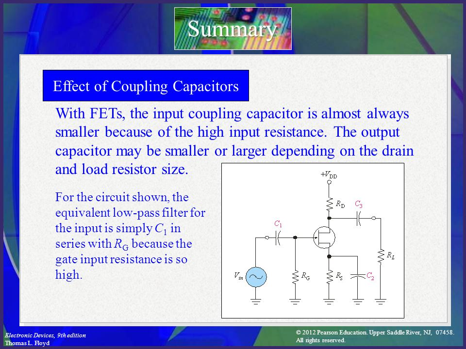 Effect of Coupling Capacitors