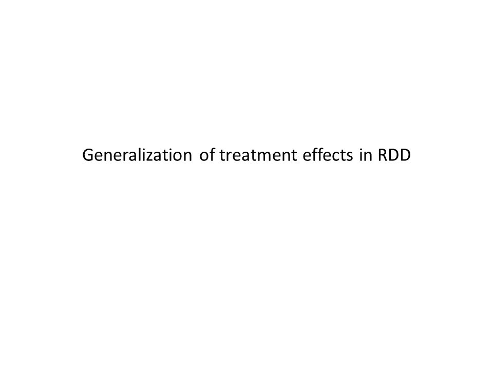 Generalization of treatment effects in RDD