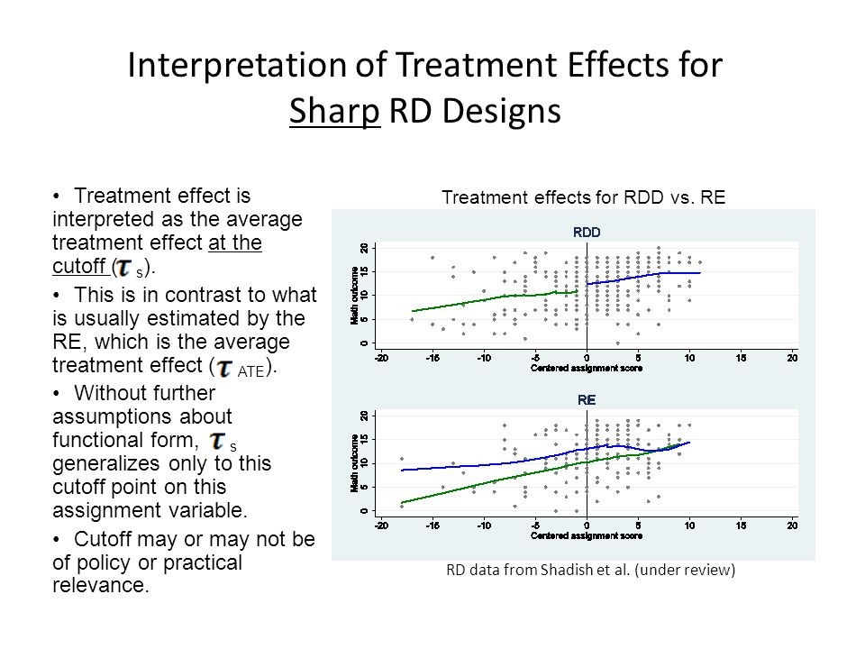 Interpretation of Treatment Effects for Sharp RD Designs