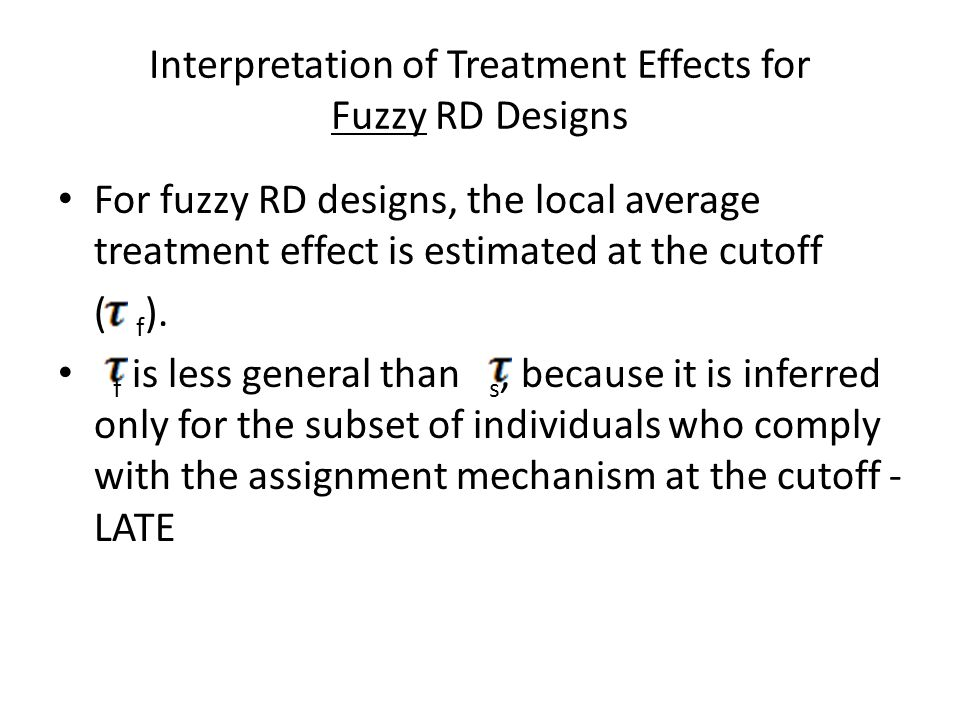 Interpretation of Treatment Effects for Fuzzy RD Designs