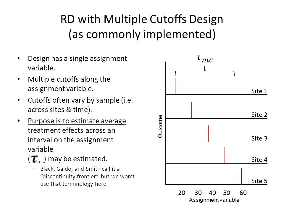 RD with Multiple Cutoffs Design (as commonly implemented)