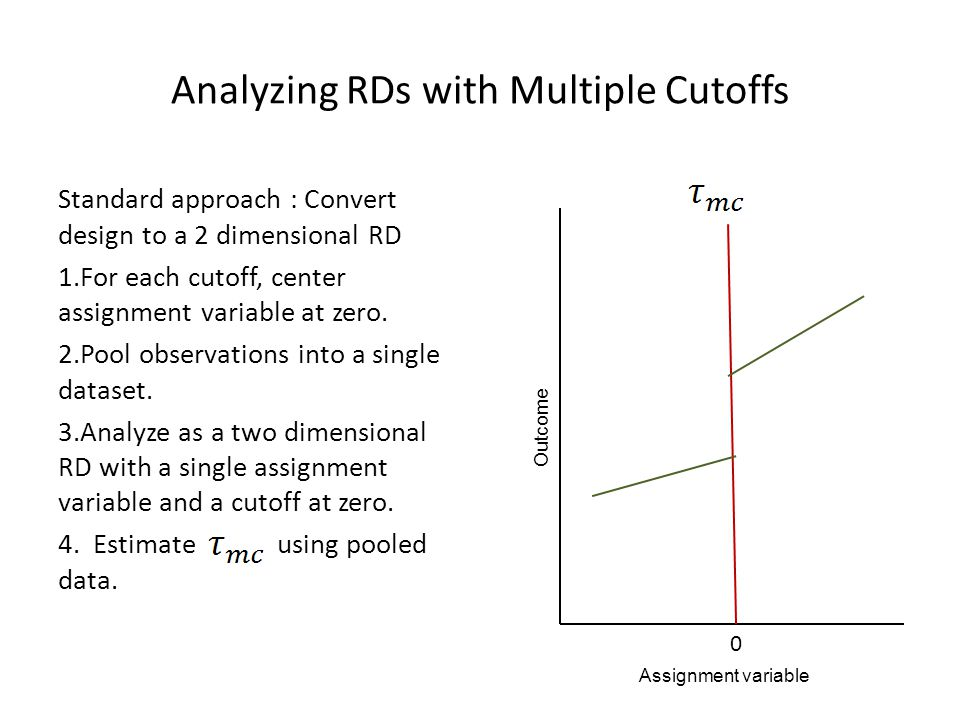 Analyzing RDs with Multiple Cutoffs