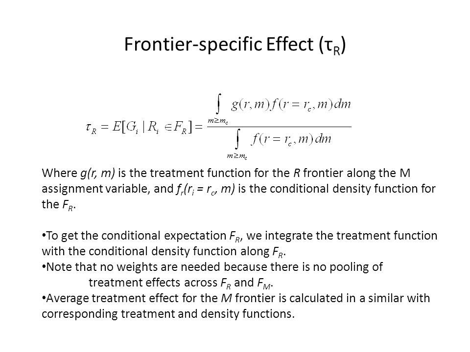 Frontier-specific Effect (τR)