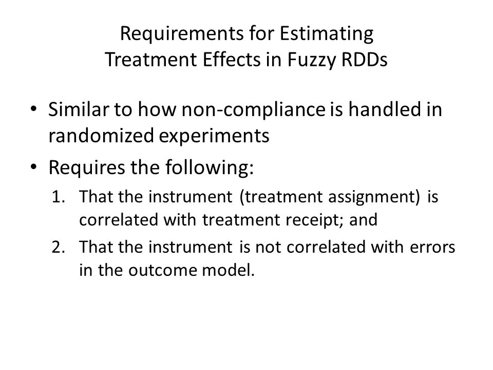Requirements for Estimating Treatment Effects in Fuzzy RDDs