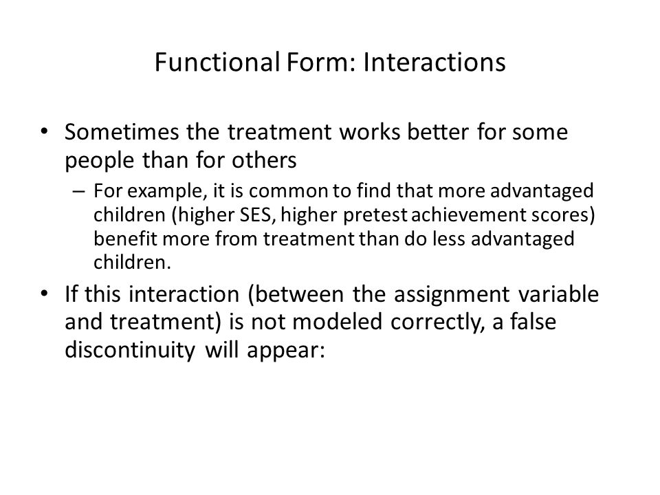 Functional Form: Interactions