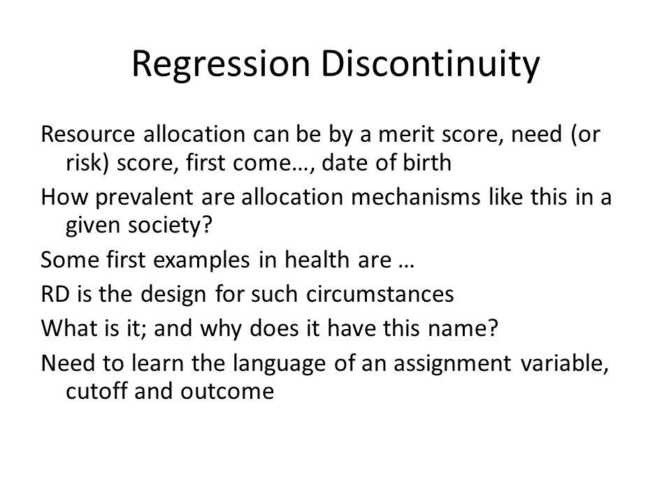 Regression Discontinuity