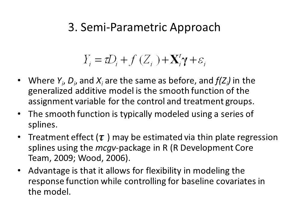 3. Semi-Parametric Approach