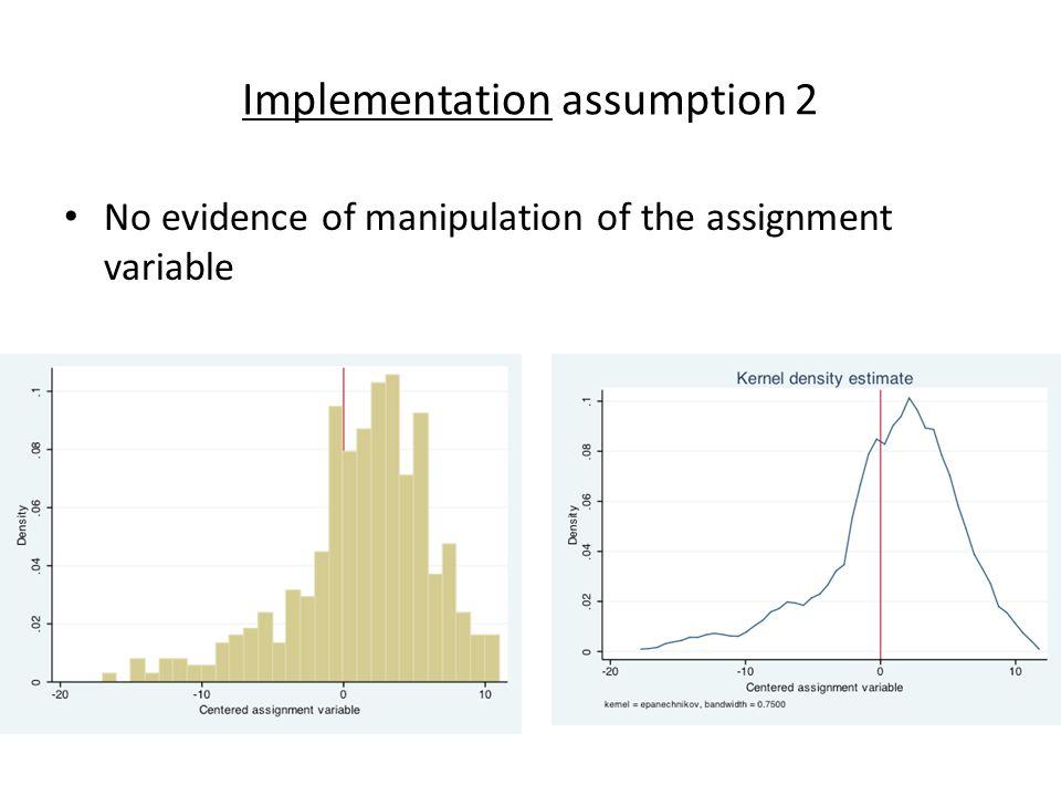 Implementation assumption 2