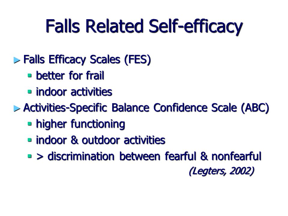 Falls Related Self-efficacy