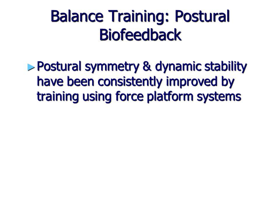 Balance Training: Postural Biofeedback