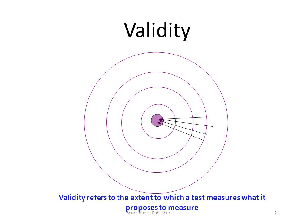 Validity Validity refers to the extent to which a test measures what it proposes to measure.