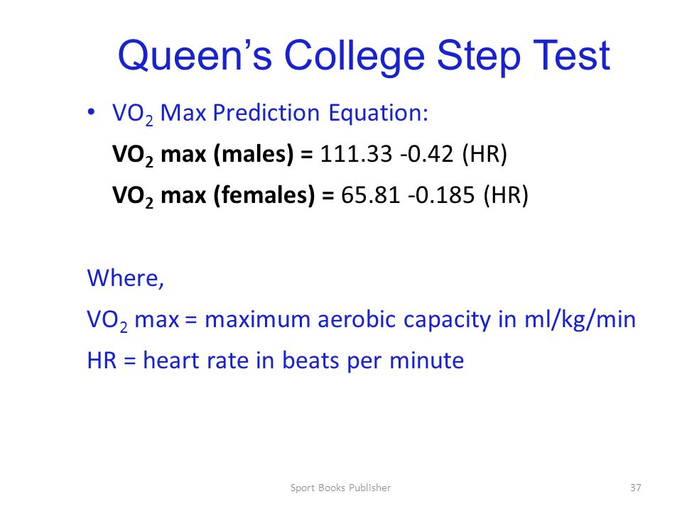 Queen's College Step Test