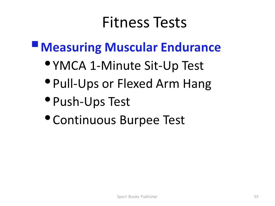 Fitness Tests Measuring Muscular Endurance YMCA 1-Minute Sit-Up Test