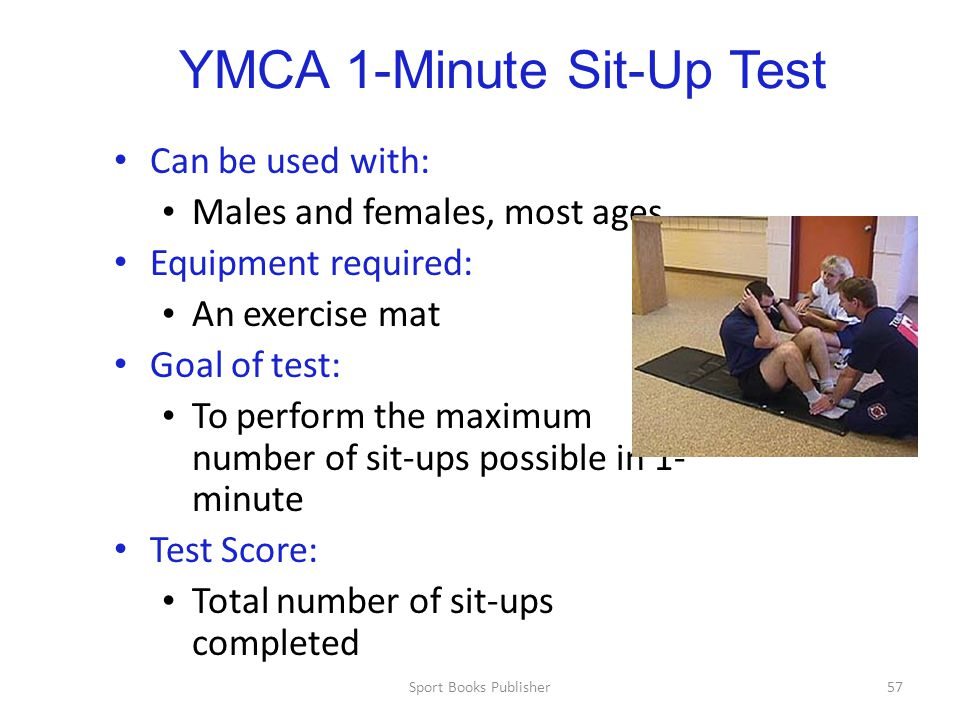 YMCA 1-Minute Sit-Up Test