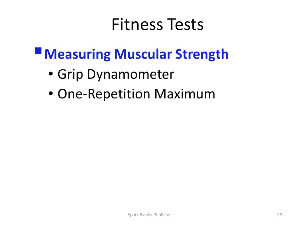 Fitness Tests Measuring Muscular Strength Grip Dynamometer