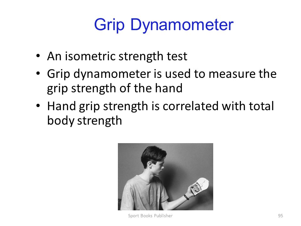 Grip Dynamometer An isometric strength test