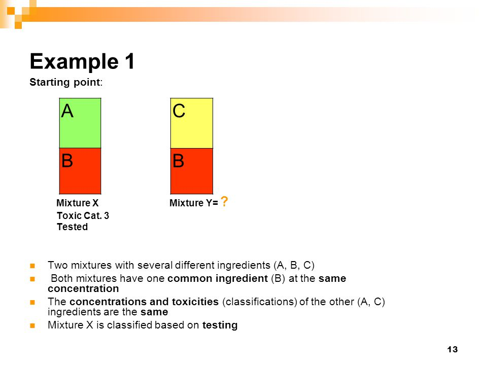 Example 1 A B C B Starting point: