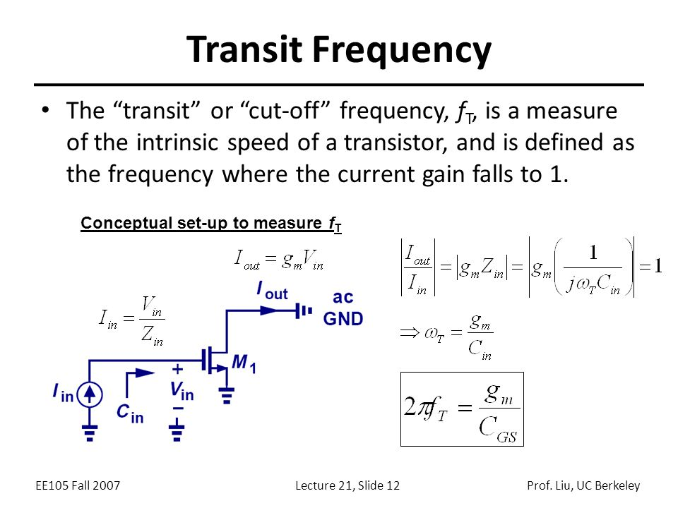Transit Frequency