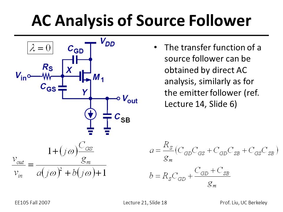 AC Analysis of Source Follower