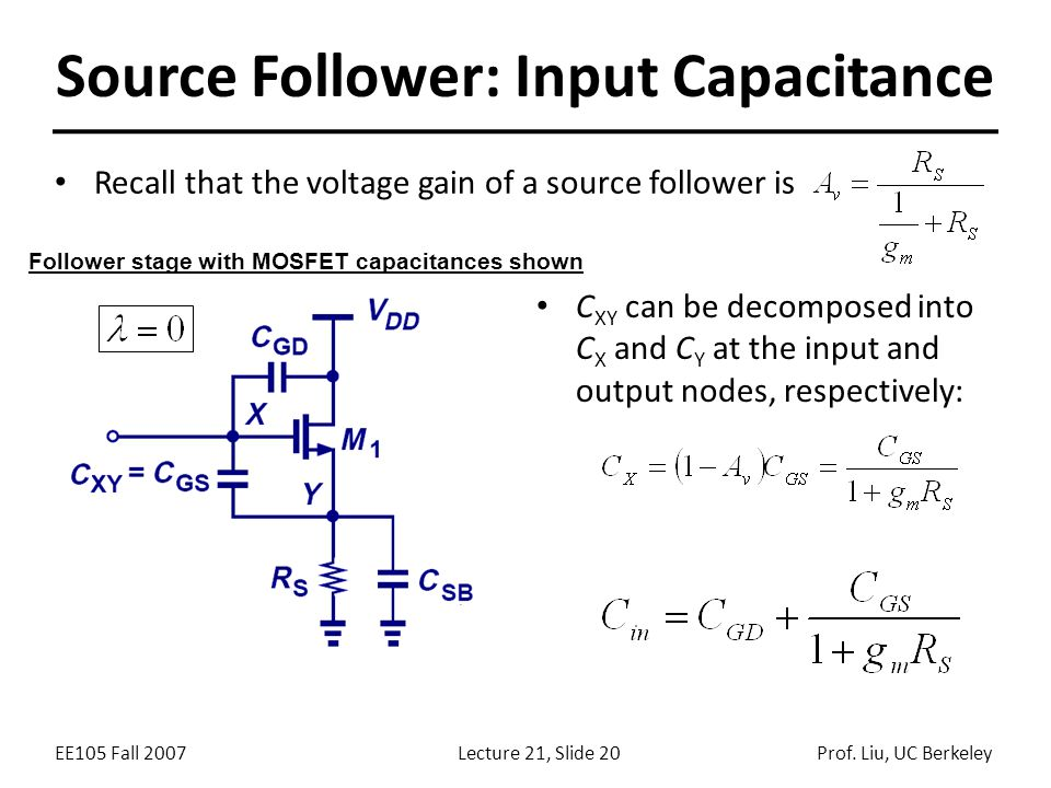 Source Follower: Input Capacitance