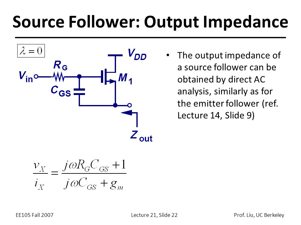 Source Follower: Output Impedance