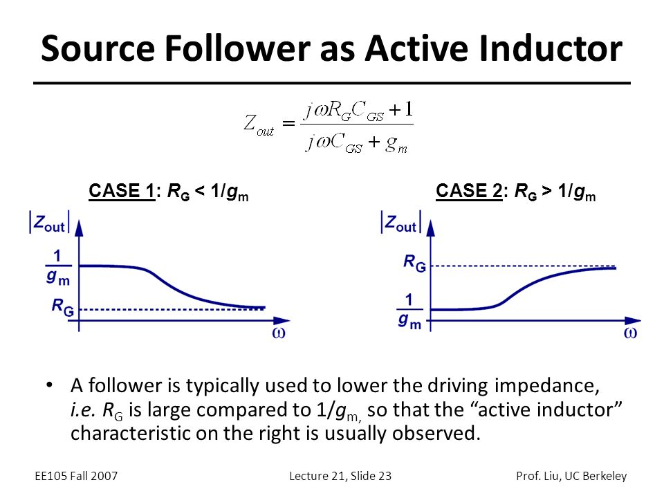 Source Follower as Active Inductor