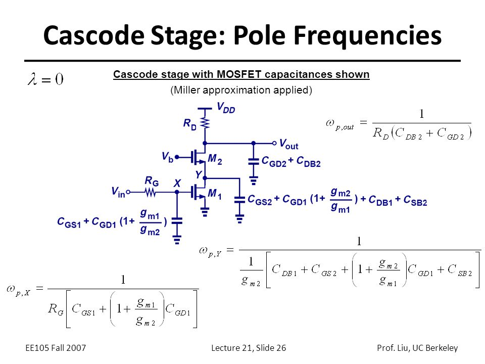 Cascode Stage: Pole Frequencies