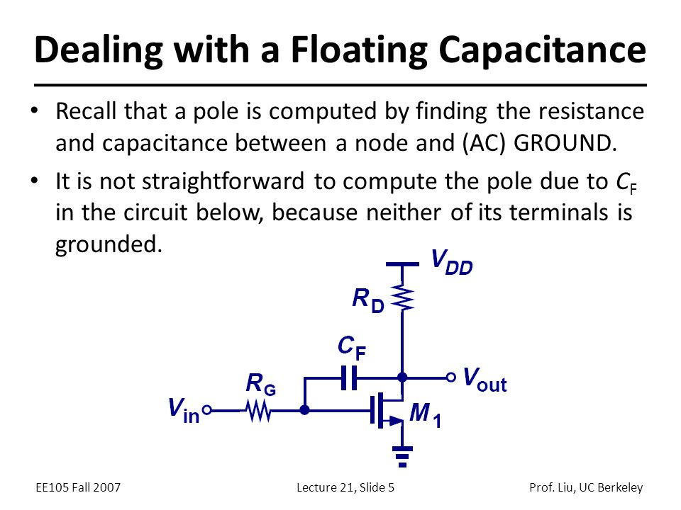 Dealing with a Floating Capacitance