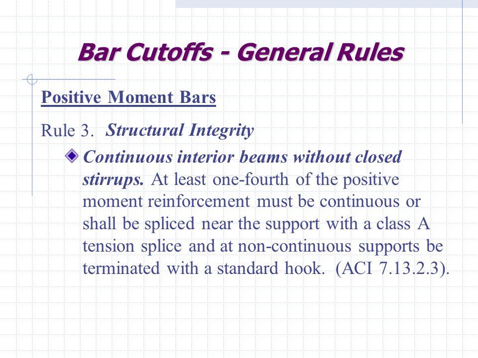 Bar Cutoffs - General Rules