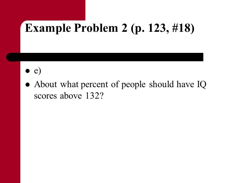 Example Problem 2 (p. 123, #18) e)