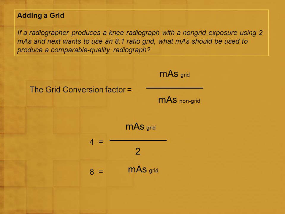 The Grid Conversion factor =