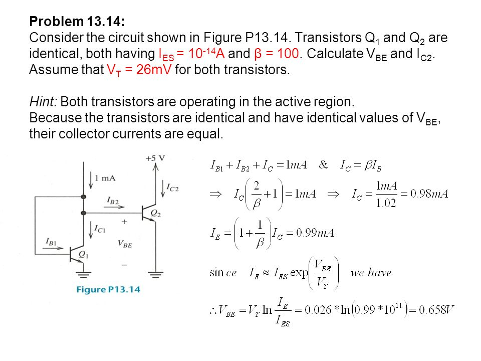 Problem 13. 14: Consider the circuit shown in Figure P13. 14