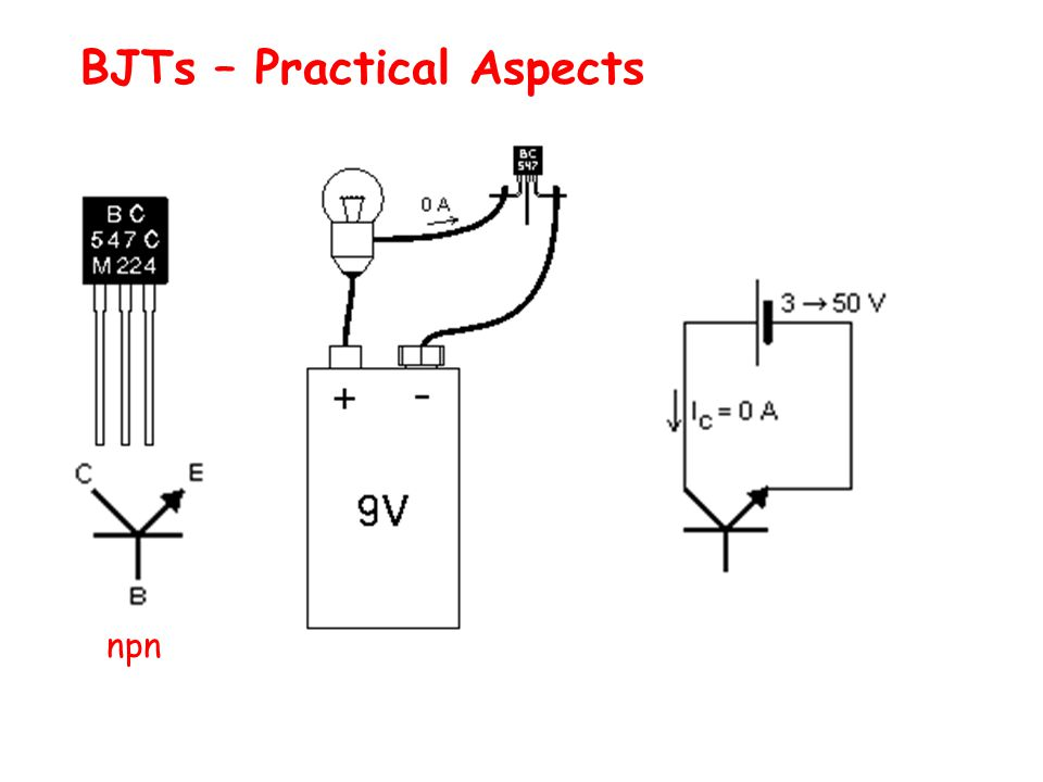 BJTs – Practical Aspects