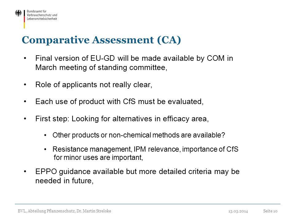 Comparative Assessment (CA)