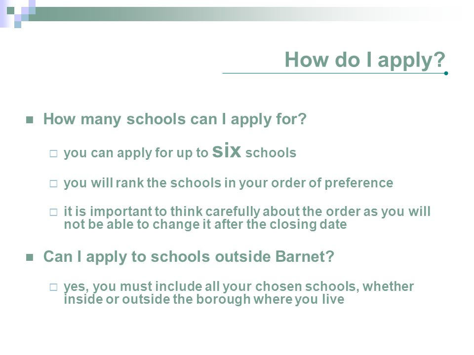 How do I apply How many schools can I apply for