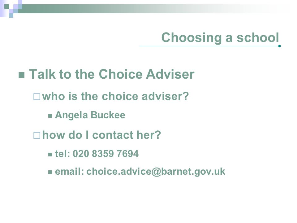 Talk to the Choice Adviser