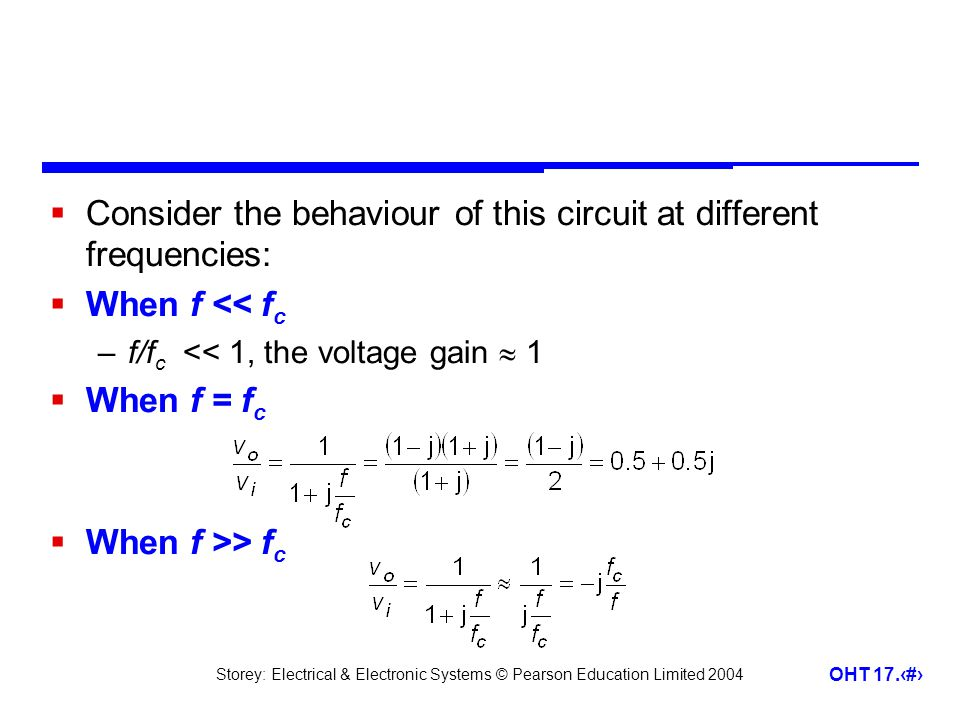 Consider the behaviour of this circuit at different frequencies: