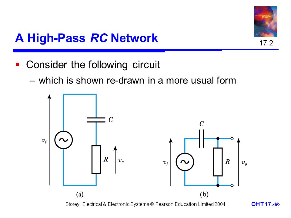 A High-Pass RC Network Consider the following circuit