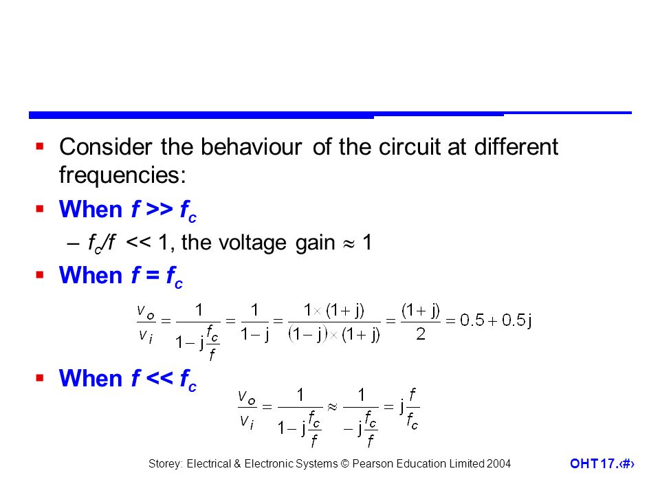 Consider the behaviour of the circuit at different frequencies: