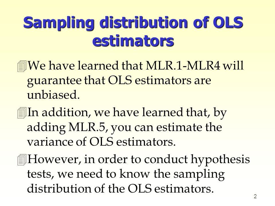 Sampling distribution of OLS estimators