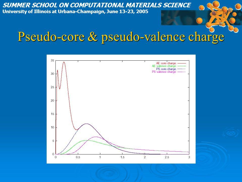 Pseudo-core & pseudo-valence charge