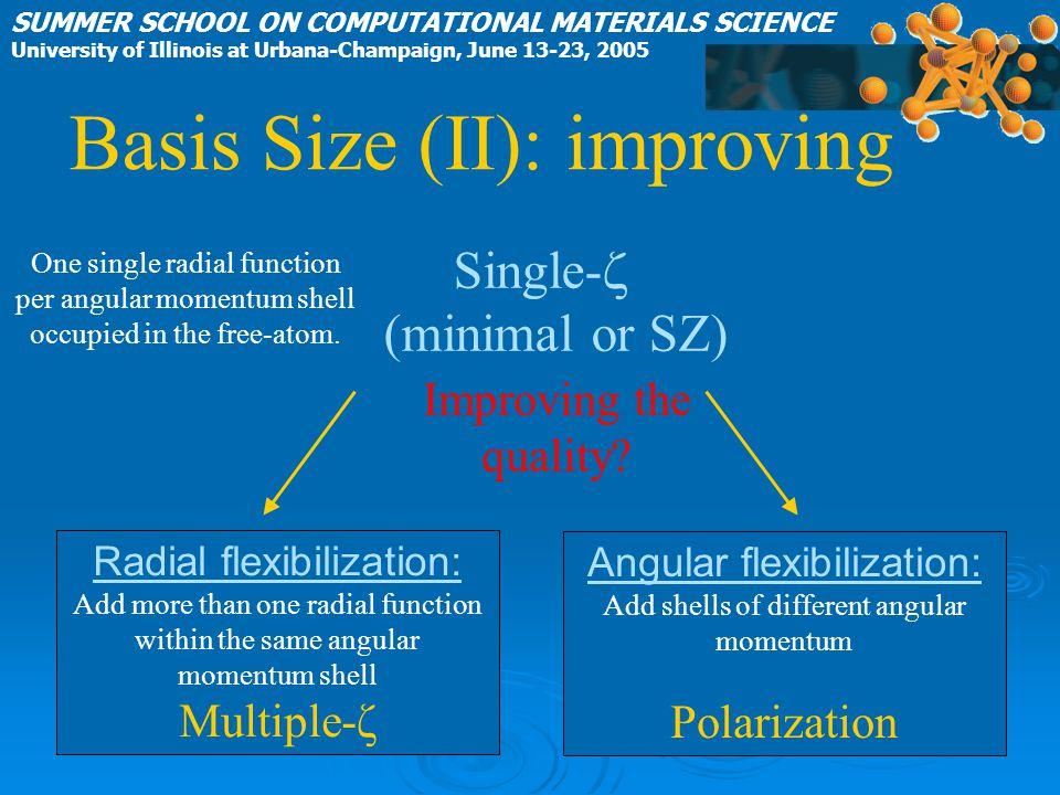 Basis Size (II): improving