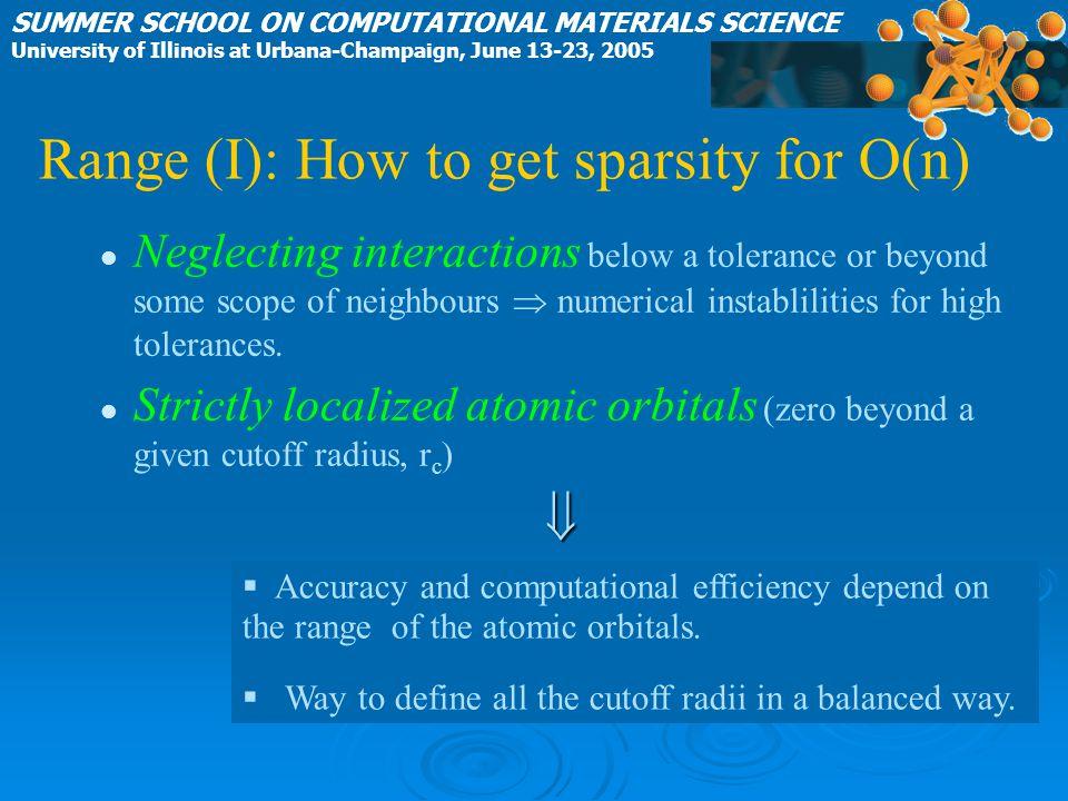 Range (I): How to get sparsity for O(n)