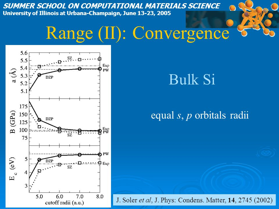 Range (II): Convergence