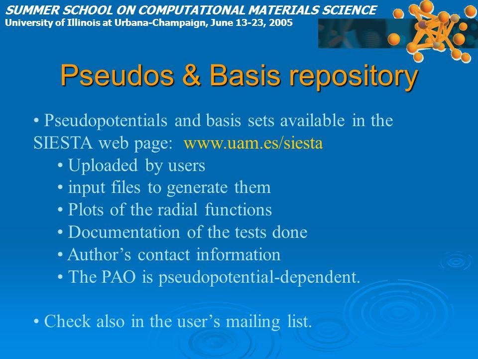 Pseudos & Basis repository