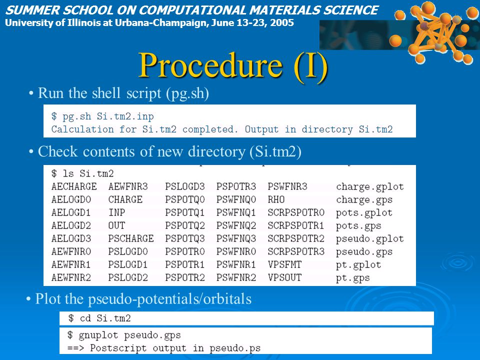 Procedure (I) Run the shell script (pg.sh)